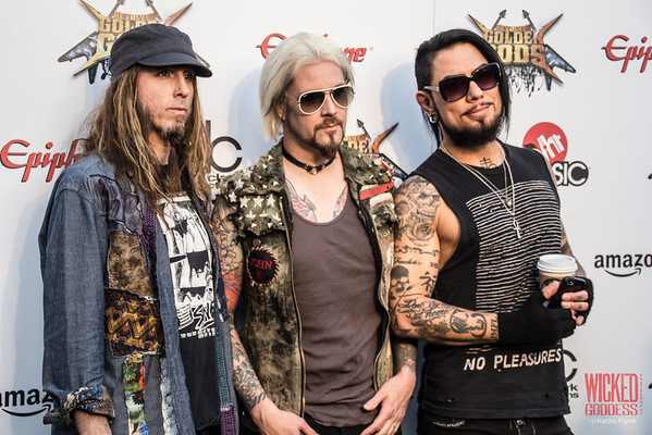 Rob Zombie's Ginger Fish and John 5 with Dave Navarro at the Revolver Golden Gods 2014