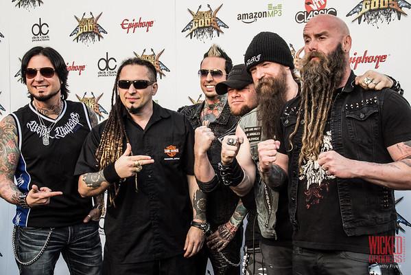 5 Finger Death Punch at the Revolver Golden Gods 2014