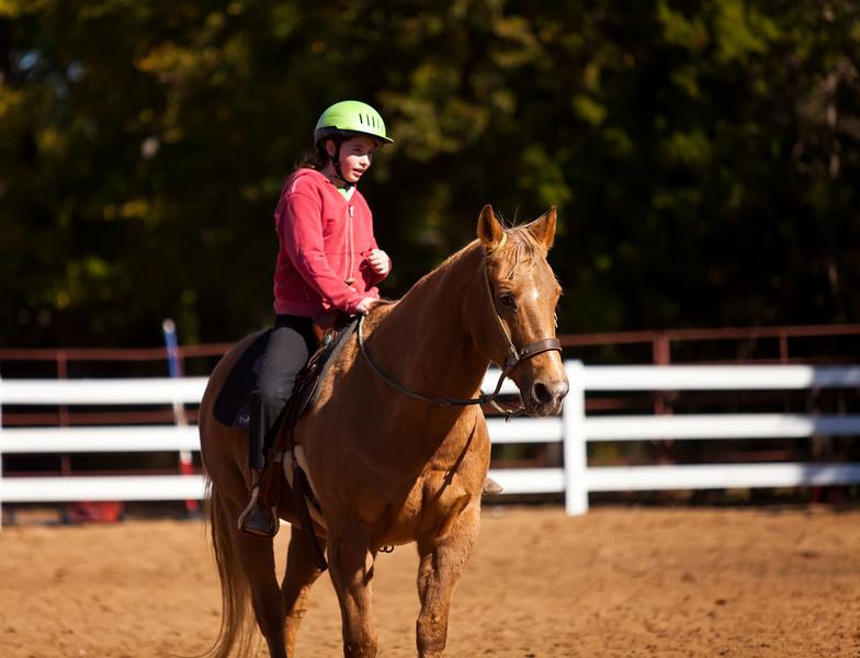 Hannah at riding lessons, Southlake, Texas (November 2010)