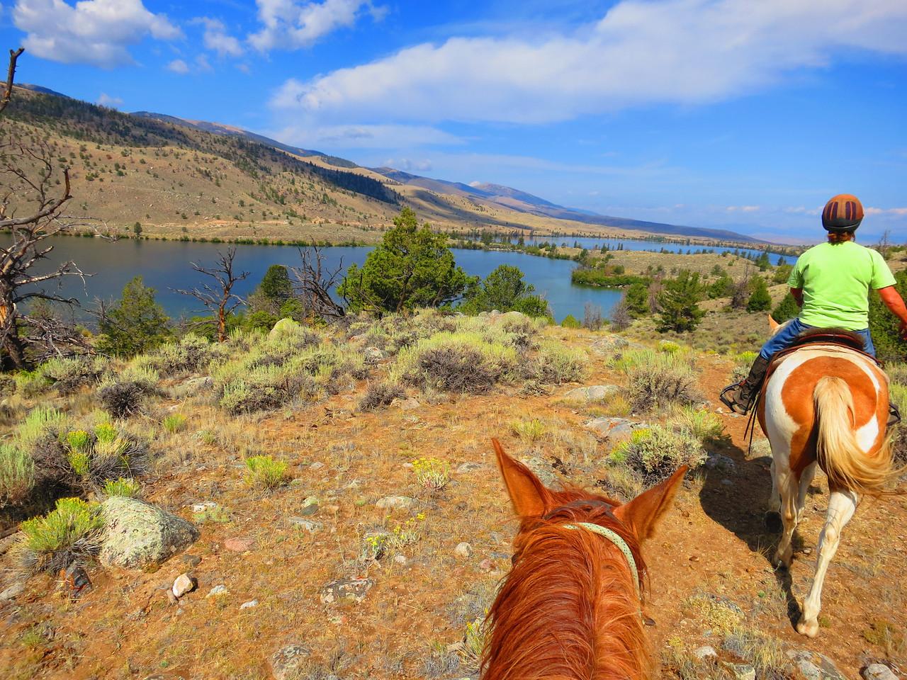 Approaching Ring Lake, Torrey Lake farther on.