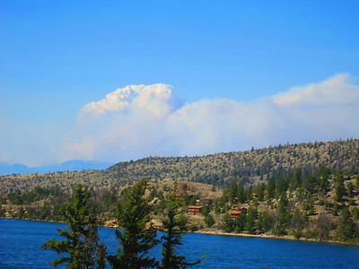 RLR above far shore. .. Note smoke from big fire in Idaho - thankfully, only evident today.