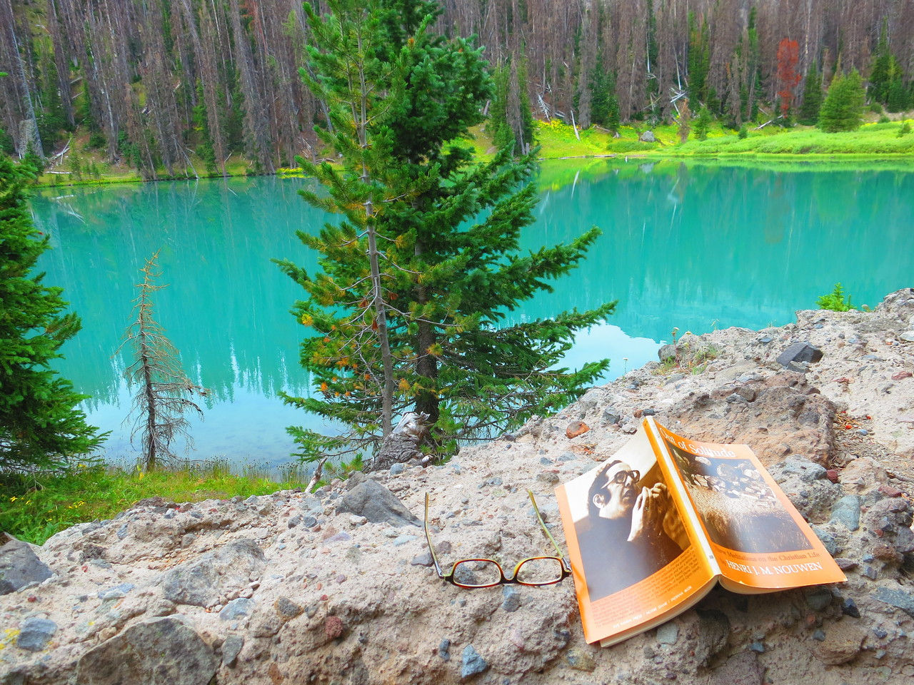 """A great spot to relax and read from Henri Nouwen's """"Out of Solitude."""""""
