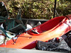 NOW, how did that Kayak get in with all that trash?  One never knows what can be found.  Just kidding, that was one of  the boats that helped clean the river.
