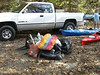 Some of the trash that was removed from the river, Copper mine to 52 section of the Chestatee in Lumpkin County. October 21, 2006