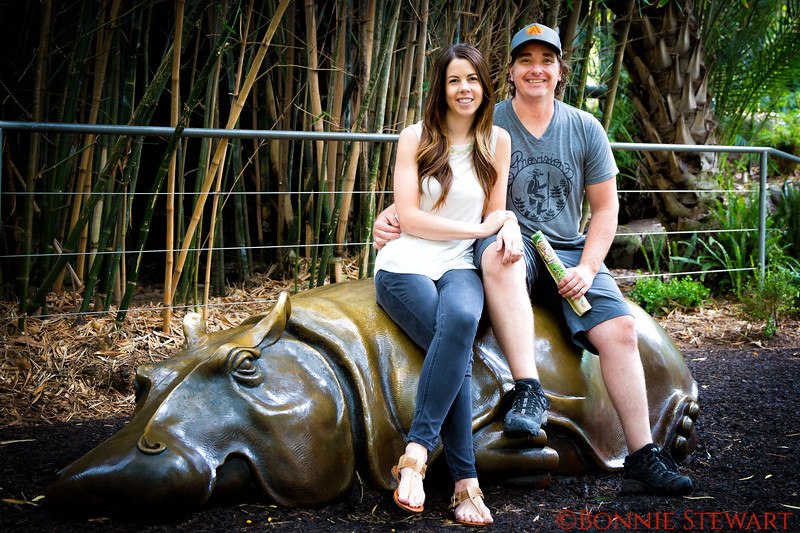Janelle and Chad in the SD Zoo