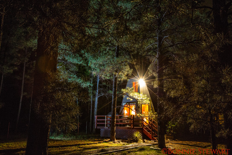 The Enchanted Cabin in the White Mountains