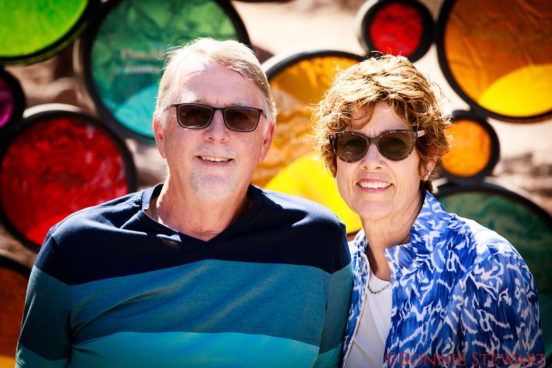 Roger and Cheryl in the Desert Garden