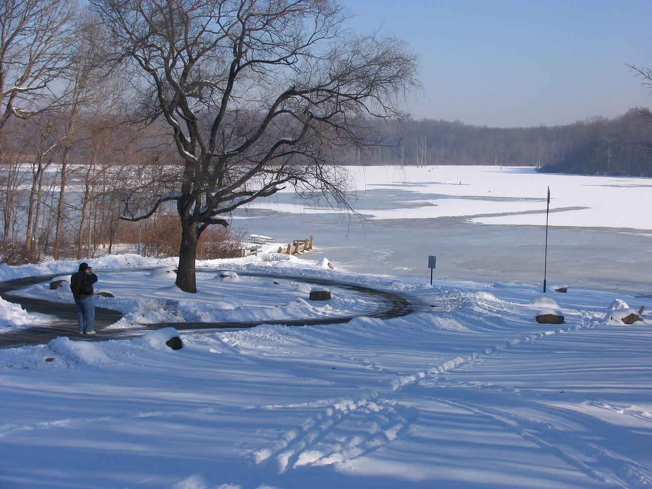 Dinu Iorga shooting Lake Towhee - December 2005