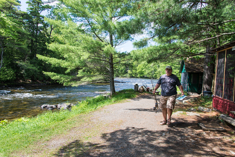 Dinu eager for a new fishing lesson - Grand Lake Stream, Maine - June 2015