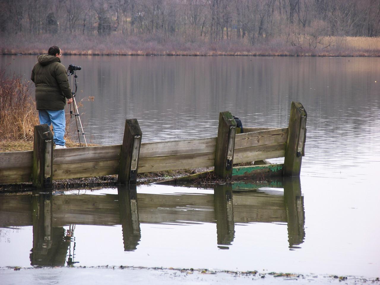 Dinu Iorga shooting at Lake Towhee - January 2005