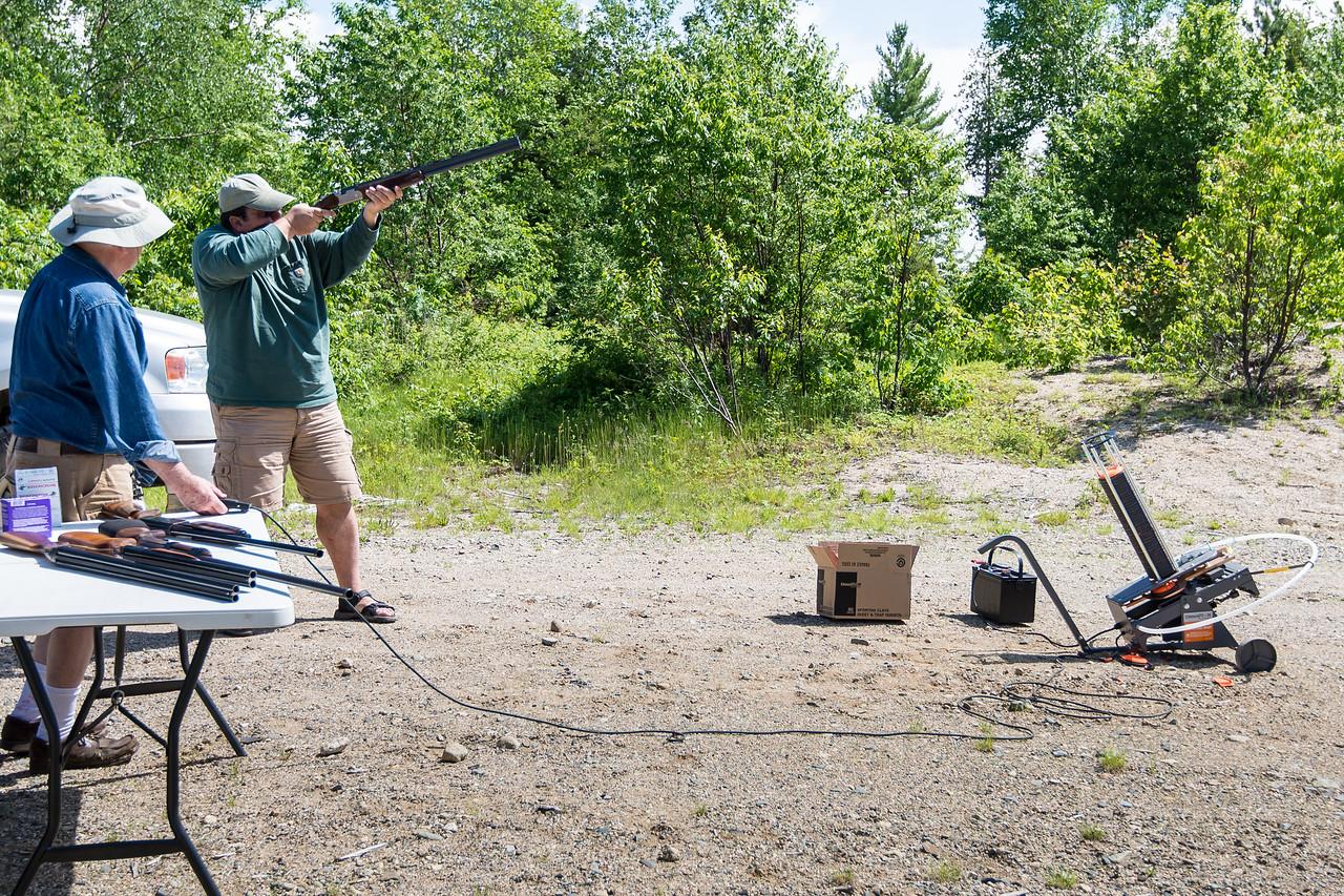 Dinu taking aim, Grand Lake Stream, Maine - June 2015