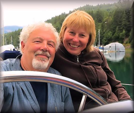 Randy and Jenna Sailboating Near Seattle!
