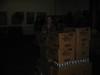 Moving boxes at a food pantry