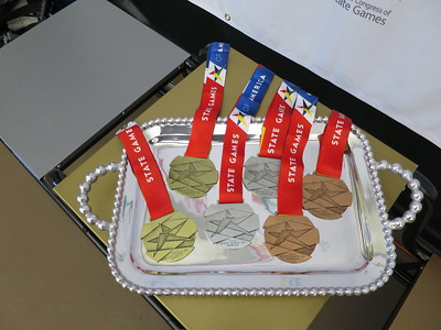 Medals to go: gold, silver & bronze.