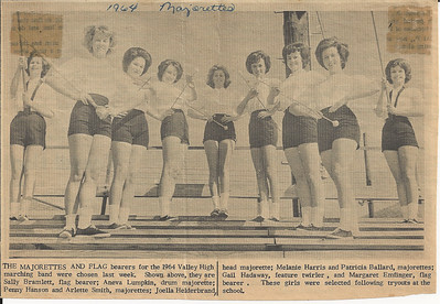 1964 Majorettes and Flag Bearers
