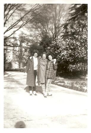 "Sally Bramlett, Sandra Coleman, Susan Langley (ages 13) - Fairfax, Alabama - it was a rare ""snow day""!"