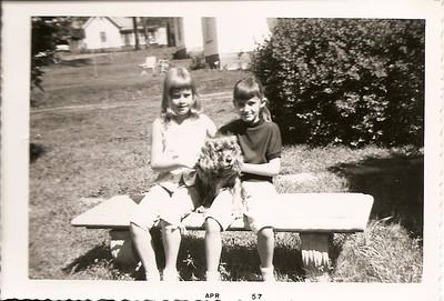 Sally Bramlett & Melanie(10) with Taffy, my Grandmother's cocker spaniel