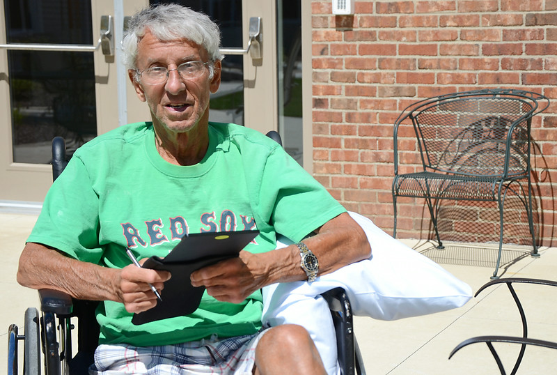 """Sam Pawlak is a retired principal and educator. He is battling ALS, often referred to as """"Lou Gehrig's Disease,"""" and is currently at the Holden Rehabilitation & Nursing Center. SENTINEL & ENTERPRISE / Ashley Green"""