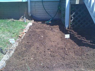 Planted Bent Spoon Garden