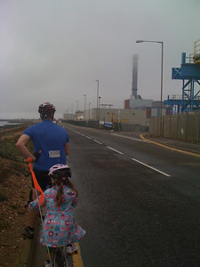 Rainy ride to Southwick Harbour
