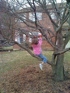 Swinging down