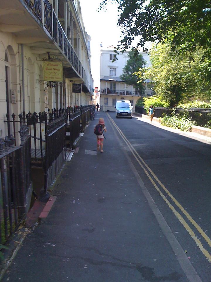 Running along Regency Square