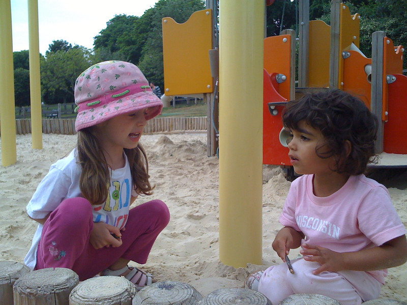 Sand pit with Anjeli at Hove Park