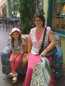 Aunt Maureen on the Downtown Mall