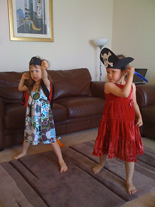 Sam and Cerys as Pirates