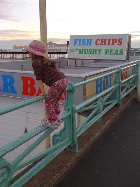 Mushy peas and climbing girl