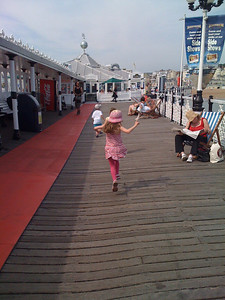 Skipping down the Pier