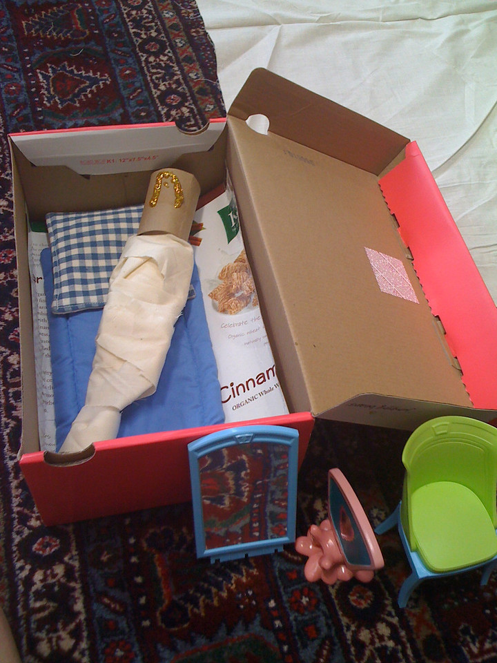 The Mummy in her sarcophagus