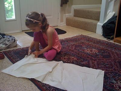 Cutting the linen
