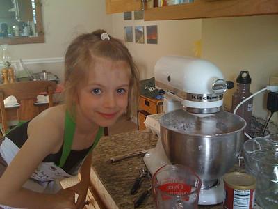 Making Aunt Skip's Birthday cake