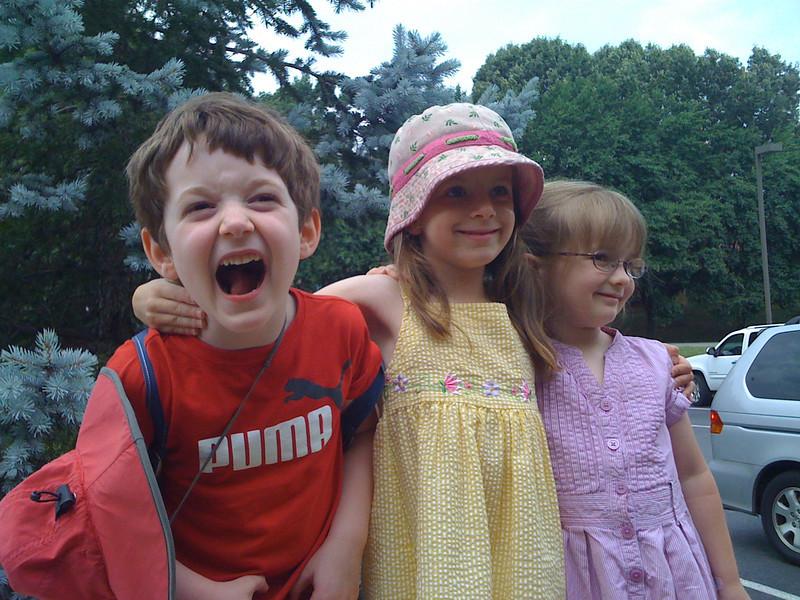 Benja, Sam, and Carys
