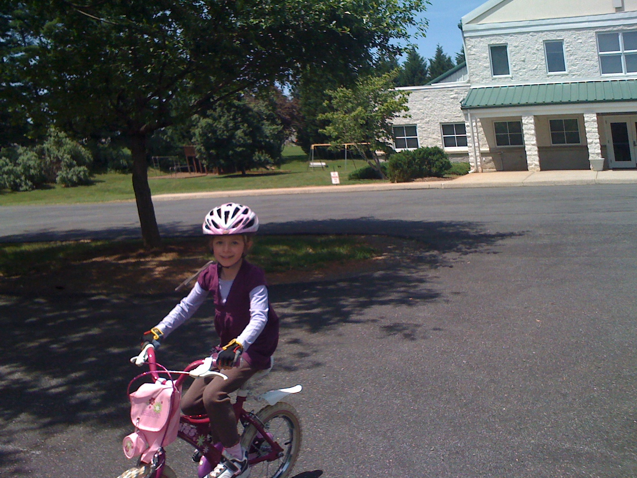 Church parking lot rider