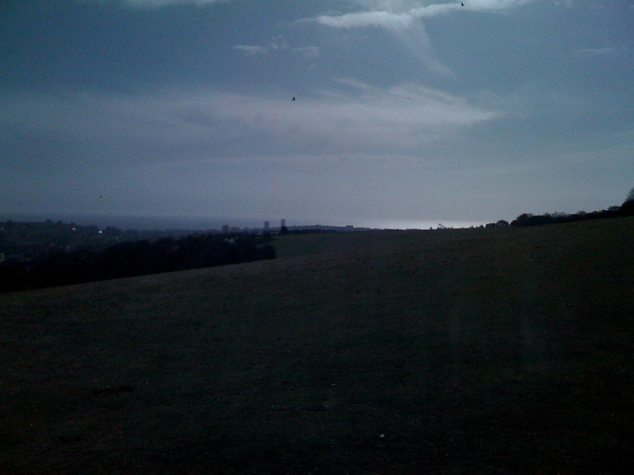 Brighton and the sea below