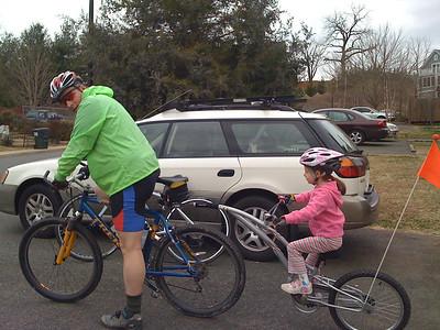 Trail-a-bike's first ride in Virginia