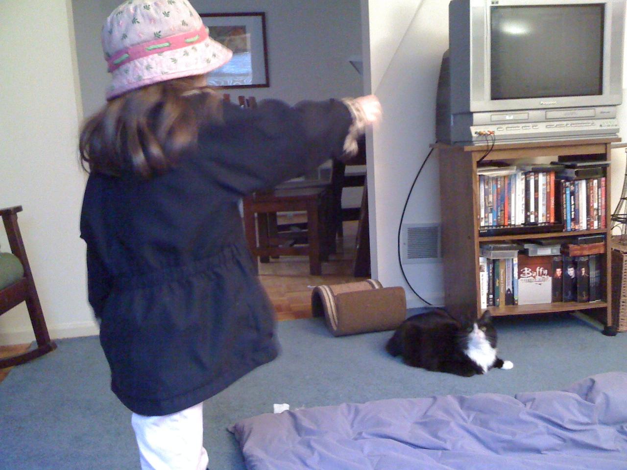 Cat-sitting Rexy