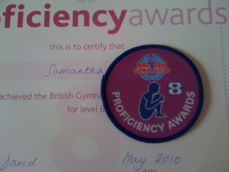 Badge Level 8 (British Gymnastics)