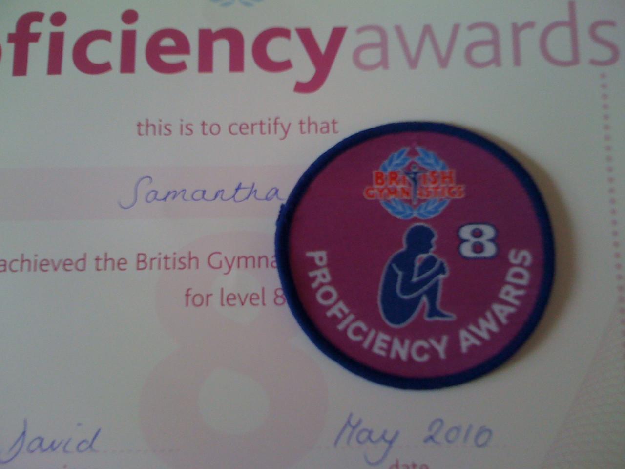Badge Level 8 (British Gymnastics)