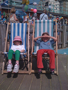 Sam and Cerys at the beach park