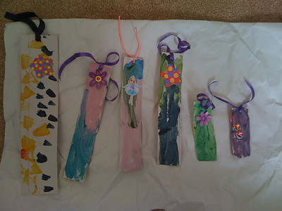 Homemade Bookmarks for Mother's Day