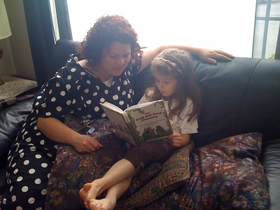 Reading to Aunt Skip