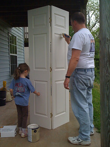Painting Doors with Dad