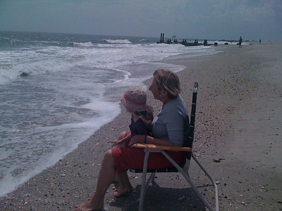 Watching the Waves with Mom-Mom