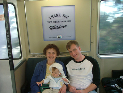 This was Mom-Mom's first BART ride too!