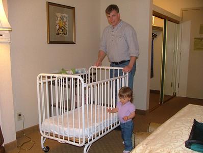 Positioning the porta-crib