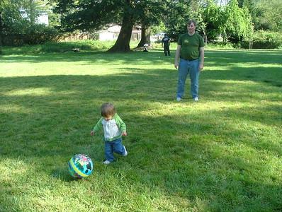 Playing soccer at Arlington Park