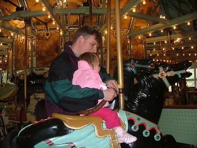 Easter weekend carousel ride